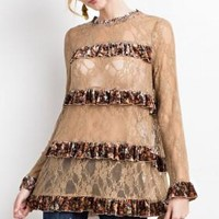 Lace and Ruffle Tunic