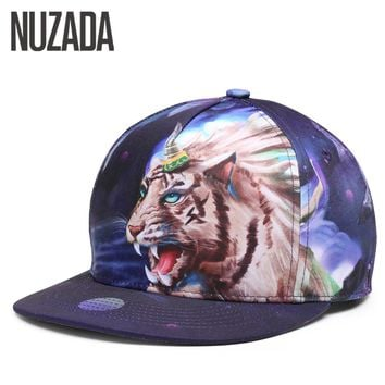 Brand NUZADA Original Design 3D Printing Men Women Baseball Cap Snapback Punk Art Style Hats  Bone Spring Summer Cotton Caps