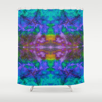 Crazy Blues Shower Curtain by Ingrid Padilla