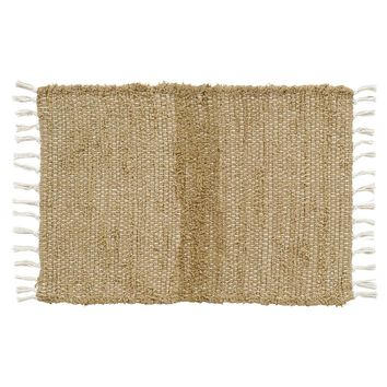 Burlap Natural Chindi/Rag Rug 20x30
