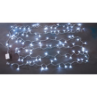 Multi-Function Linear Fairy Lights, White 28-inch, 100 LED