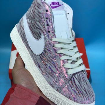 kuyou N770 Nike Wmns Blazer High Crystal series casual skate shoes Purple