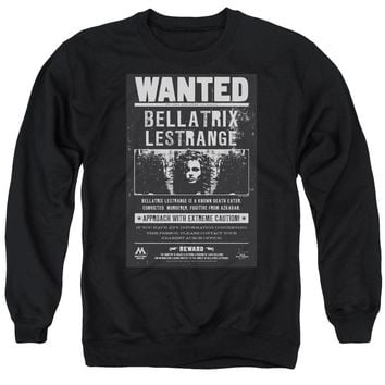 Harry Potter - Wanted Bellatrix Adult Crewneck Sweatshirt Officially Licensed Apparel