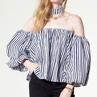 Detachable Tie Bloom Blouse Discover the latest fashion trends online at storets.com