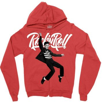 Elvis Presley Rock N Roll Zipper Hoodie