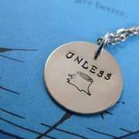 Personalized Necklace Hand Stamped Jewelry - Unless The Lorax
