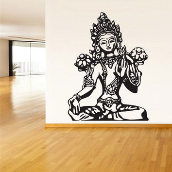 rvz1386 Wall Decal Vinyl Sticker Decals Buddha India Indian Om Ganesh God Yoga