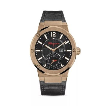 Bronze Case F-80 Smartwatch by Salvatore Ferragamo