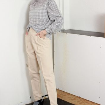 70s Pleated Tapered Trousers / M 29 Inch Waist