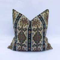 "20"" x 20"" Boho Turkish Strips Style Nice Colourful Cotton Decorative Throw Pillow Case"