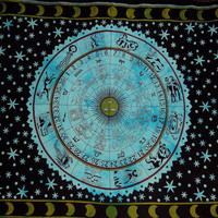 Zodiac Tapestry Wall Hanging Horoscope Tapestry