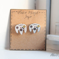 Nintendo N64 Inspired Controller Earrings