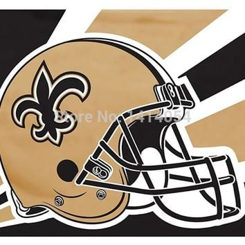 New Orleans Saints  helmet new  flag150X90CM Banner 100D Polyester flag brass grommets 001, free shipping