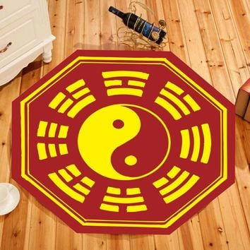 Traditional ethnic culture Taoist Carpets Yin Yang Tai Chi gossip Printed Pattern carpet Practice Meditation Anti-skid Mat Rugs