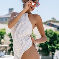 Women's Fashion Hot Sale Stripes Sexy Backless Jumpsuit [11182507911]