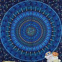 Plushdecor Blue Elephant Tapestries Camel Mandala Tapestry Hippie Indian Bohemian Wall Hanging