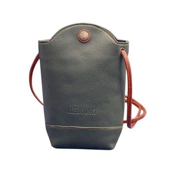 Small Women Bag Mini Shoulder Bag Cell Phone Bag PU Leather Women Messenger Bags Female Coin Wallets Small Bucket #6M