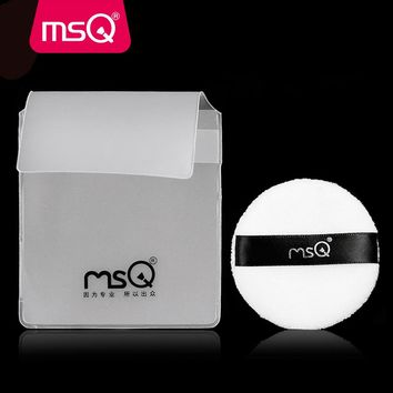 20pcs/lot MSQ High Quality Mini White Cotton Round Makeup Cosmetic Puff For Foundation Concealer Powder Make up