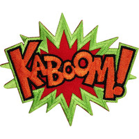 KABOOM Batman Superman Iron Sew On Embroidered Patch
