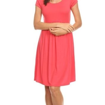 Solid Knit baby Doll Dress