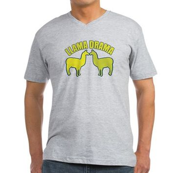 Llama Drama Men's V-Neck T-Shirt