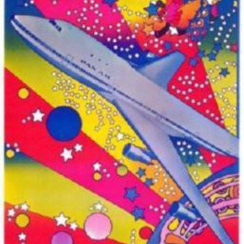 Pan Am Airplane Peter Max Art Poster Standup 4inx6in