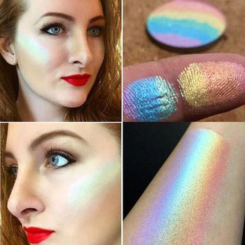 LMFONPR Fantasies Rainbow Highlighter Face Brightener Contouring Palette Makeup Kit