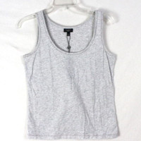 Talbots Tank Top PS Petite Small size New Womens Gray Silver Metallic Light