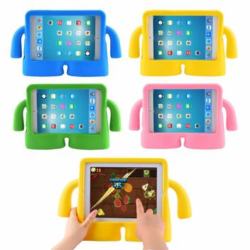 1pc Silicone Thick Foam Shock Proof Soft Stand Case 3D Cute Cartoon Kids Cover for ipad Mini 2 CASE Mini Case for Kids