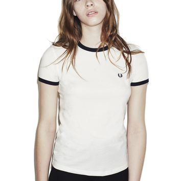 Fred Perry - Classic Ringer T-Shirt Snow White