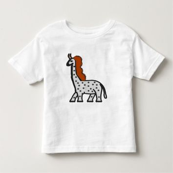 A strange tall and large animal toddler t-shirt