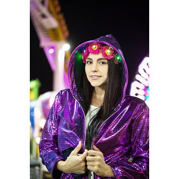Pink Electro - Light Up Hoodie - Clearance