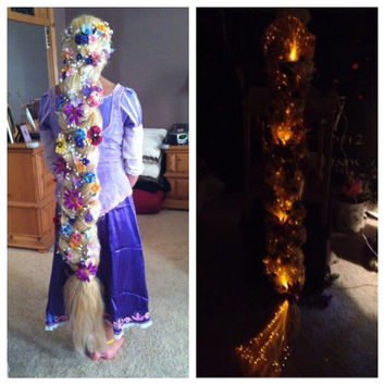 Tangled Glowing Rapunzel Inspired 5 Foot Long Blonde Braided Wig