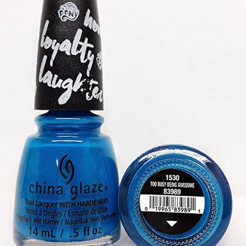 China Glaze Nail Polish 83989 Too Busy Being Awesome 0.5 oz