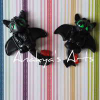Thootless, How to train your dragon, Dragon,Pendant, Keychain, Charm, Cute,Clay,Polymer Clay,Kawaii, Toothless