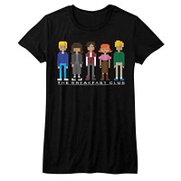 Breakfast Club Pixels Womens T-Shirt