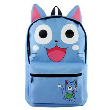 Anime Backpack School 2018 kawaii cute Fairy Tail Printed Backpack For Students Fairy Tail Cosplay Rucksack Mori cute schoolbag 032606 AT_60_4