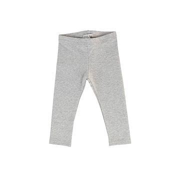 Lil Legs Silver Metallic Long Leggings