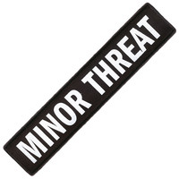 Minor Threat Men's Logo Embroidered Patch Black
