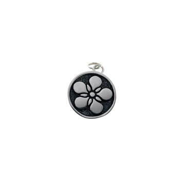 Ceremonial Kamon Sterling Silver December Poppy Charm