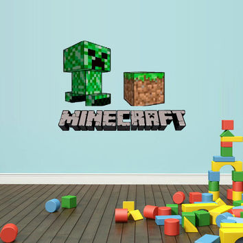 Shop minecraft wall decals on wanelo for Awesome minecraft vinyl wall decals