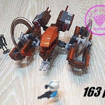 Star Wars Force Episode 1 2 3 4 5 New Attack of Clones Hailfire Droid fit legoings  figures fighter model Building Blocks Bricks Toy 75085 gift kid set AT_72_6