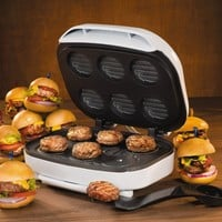 Nostalgia Electrics SM-500 All League Sliders Electric Mini Burger Maker