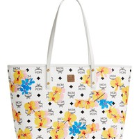 MCM Essentials Floral Print Coated Canvas Shopper | Nordstrom