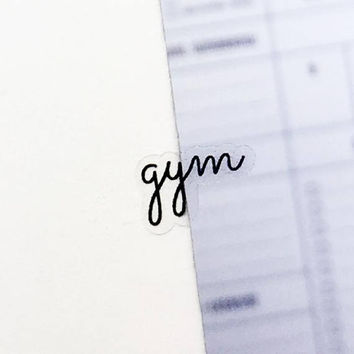 Clear Gym Stickers, Clear Planner Stickers, Clear Word Stickers, Transparent Stickers, Fitness Stickers, Exercise Stickers, Fitness (p038)