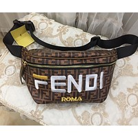Fendi Women Shopping Leather Crossbody Satchel Shoulder Bag