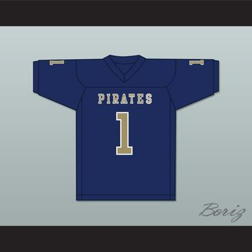 Calvin Jackson 1 Independence Community College Pirates Dark Blue Football Jersey