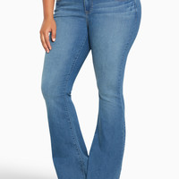 Torrid Three-Button Flared Jeans - Light Wash