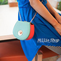 YESSTYLE: Nillie Shop- Faux Leather Clutch (Green - One Size) - Free International Shipping on orders over $150