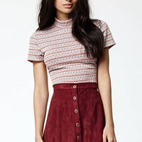 Kendall & Kylie Mock Neck Short Sleeve Top at PacSun.com